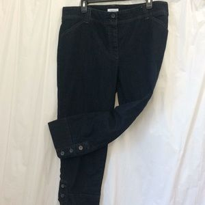 Charter Club Size 16 Jeans with Cute Button Cuffs